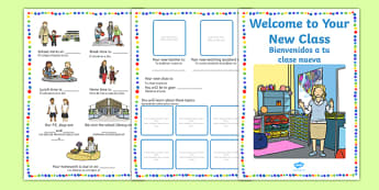 Welcome to Your New Class Booklet English/Spanish