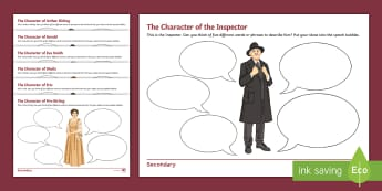 An Inspector Calls: Describe Me Editable Activity Sheets - Sheila Birling, sheila, an inspector calls, jB Priestly, characters in an inspector calls worksheets