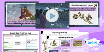 PlanIt Y4 Myths and Legends: Romulus and Remus Lesson Pack Storytelling 2 - Myths and Legends: Romulus and Remus, romans, ancient, traditional, twins, brothers, storytelling, o