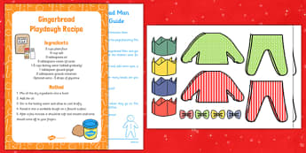 Christmas Gingerbread Man Playdough Busy Bag Resource Pack for Parents - Gingerbread, Christmas, EYFS