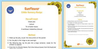 Sunflower Edible Sensory Recipe