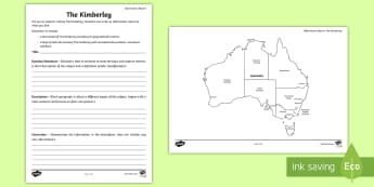 Australian States and Territories – The Kimberley Information Report - Year 3, Year 4, Year 5, Year 6, ACHASSK066, Australian Curriculum, Geography, South Australia, langu