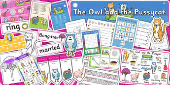 The Owl and the Pussycat Resource Pack - stories, books, poems