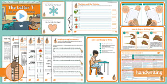 The Journey to Cursive: The Letter 'l' (Ladder Family Help Card 1) KS1 Activity Pack - Nelson handwriting, penpals, fluent, joined, legible