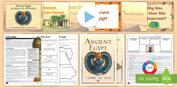 CfE Second Level Ancient Egypt IDL Resource Pack - Egypt, pyramids, ancient civilisations,IDL packs, ancient egypt,Scottish