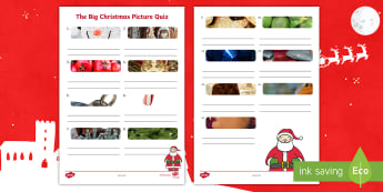 KS1 The Big Christmas Picture Quiz  Activity Sheet - festive, christmas game, y1, y2, mystery object, worksheet