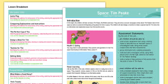 Space: Tim Peake Y5 Planning Overview -  astronauts, ISS, International Space Station,  Key Stage 2, planning.