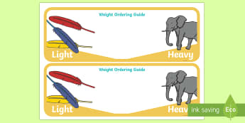 Weight Ordering Guide - The Crunching Munching Caterpillar, Sheridan Cain, life cycle of a butterfly, weight, heavy, light,
