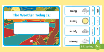 What is the Weather Like Today?  - weather display, australian weather, classroom,