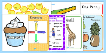 KS1 Maths Number Display Pack Year 2 - ks1, maths, number, display