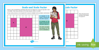 Scale Factor Display Poster - ratio, proportion, scaling, shape factors, enlargement, classroom display, maths display, working wa