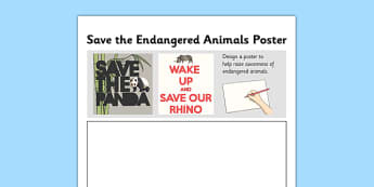 Automata Animals - Save the Endangered Animals Poster Home Learning Task - homework, mechanical systems