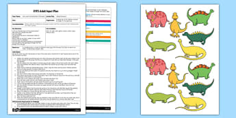 EYFS Hiding Dinosaurs Adult Input Plan and Resource Pack