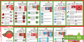 CFE First Level The 12 Crafts of Christmas Resource Pack - Christmas Art, Christmas activities, Christmas makes, projects, decorations,