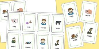 SN Flash Cards - sn sound, flash cards, flash, cards, sound, sn, sen