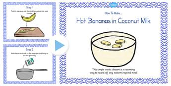 Hot Bananas in Coconut Milk Recipe PowerPoint - recipe, banana