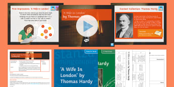 GCSE Poetry Lesson Pack to Support Teaching On 'A Wife in London' by Thomas Hardy - Hardy, Wife, London, Poetry, Eduqas