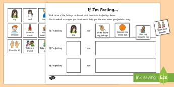 If I'm Feeling...I Can Activity - feelings, emotions, control, relationships, health and wellbeing
