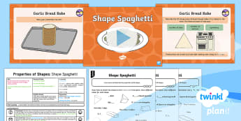 * NEW * PlanIt Maths Y2 Properties of Shapes Lesson Pack 3D Shapes (1)  - Edges, sides, vertices, properties of shapes, planning, 3-d shapes, maths planning, lesson plan,  ma