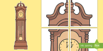 Large Grandfather Clock Display Cut-Outs -  - Hickory Dickory Dock, nursery rhymes, grandfather clock pictures, nursery rhyme rescourses, rhymin,