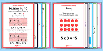 Multiplication and Division Written Methods Posters - expanded multiplication, column multiplication, written multiplication, formal written method, calculation methods, posters, display