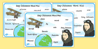 Amy Johnson Word Mat - amy johnson, word mat, word, mat, johnson
