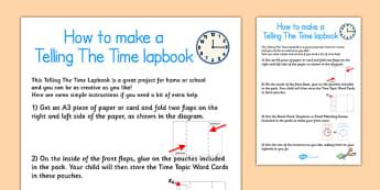 Telling The Time Lapbook Instructions - lapbooks, instructions