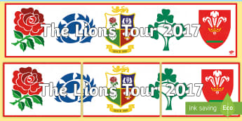 The Lions Tour 2017 Display Banner - NI - The Lion\'s Tour rugby union British Irish