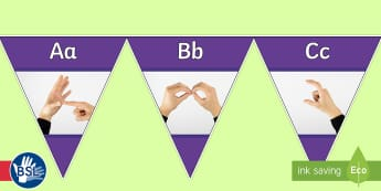 British Sign Language (BSL) Photo Alphabet (Signer's View) Display Bunting - photo bsl, learn bsl, bsl alphabet, deaf, teacher of the deaf, deaf display, sign language display,