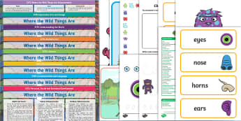 Lesson Plan Enhancement Ideas and Resources Pack to Support Teaching on Where the Wild Things Are - planning, Early Years, early years planning, continuous provision, adult led, Where the Wild Things Are, Maurice Sendak, imaginary creatures, monsters