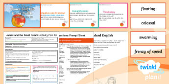 James and the Giant Peach Guided Reading 10 Y4 to Support Teaching On 'James and the Giant Peach' - Charlie and the chocolate factory, quentin blake, significant author, the twits, whole class guided reading, george's marvellous