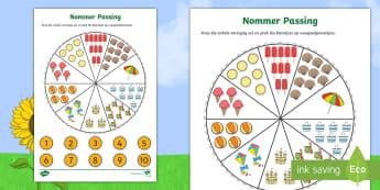 Nommer Passing Wasgoedpennetjies Somer Aktiwiteit - seisoene, warm, weer, vakansie, wiskunde, gesyferdheid