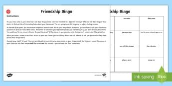 Middle East Back to School New Class Friendship Bingo - bingo, game, reading, Back To School, First Day, New School, UAE, Dubai, New Class,