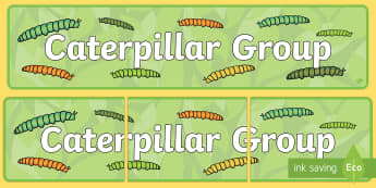 Caterpillar Group Display Banner - Caterpillar Group Sign, display banner, minibeast, class groups, signs, display, minbeast , caterpil