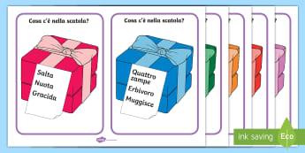 Cosa c'è nella scatola? Le deduzioni Attività - deduzioni, fai, le, esercizio, cosa, c, e, nella, scatola, esercizio, comprensione, del testo, itali