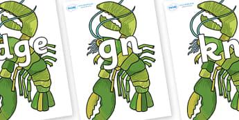 Silent Letters on Lobster - Silent Letters, silent letter, letter blend, consonant, consonants, digraph, trigraph, A-Z letters, literacy, alphabet, letters, alternative sounds