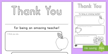 Thank You Teacher Activity Sheet - Teacher Appreciation Week, Teacher Appreciation, Thank you, best teacher, worksheet, amazing teacher