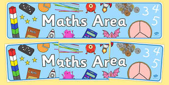 Maths Area Sign - Classroom Area Signs, KS1, math, Banner, Foundation Stage Area Signs, Classroom labels, Area labels, Area Signs, Classroom Areas, Poster, Display, Numeracy, Maths, Maths signs, Foundation numeracy, problem solving reasoning and nume