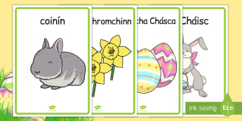 Easter Display Posters Gaeilge - gaeilge, irish, easter, display posters, easter display