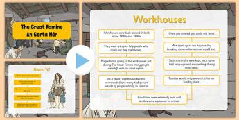 The Great Famine Informative PowerPoint - gaeilge, the famine, great famine, powerpoint, questions, worksheet, ireland history