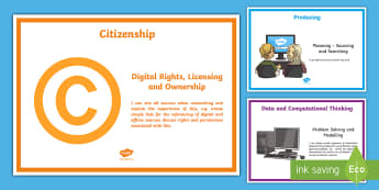I Can Digital Competence Statements Year 5 Display Pack - DCF, Dcf, DCF Display, I Can Statements, Nursery, ICT, display resources, Year 5