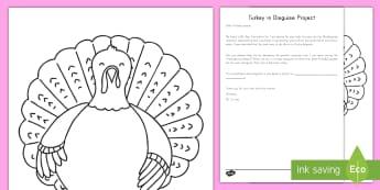 Turkey in Disguise Activity - Turkey, Thanksgiving, Turkey in Disguise, art, Craft, Thanksgiving craft