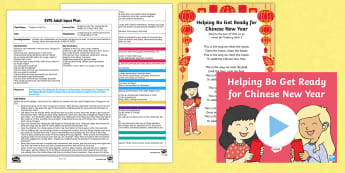 EYFS Dragons in the City Helping Bo Get Ready for Chinese New Year Adult Input Plan and Resource Pack - Twinkl Originals, fiction, Chinese New Year, Mandarin, culture, Early Years Planning, Foundation, Tw