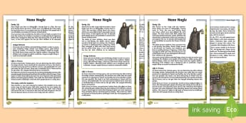 Nano Nagle Differentiated Reading Comprehension Activity - Ireland, honora nagle, Penal Laws, catholic, presentation sisters,Irish