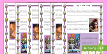 Day of the Dead Differentiated Fact File - Day of the Dead, fact file, reading, writing, comprehension, Mexico