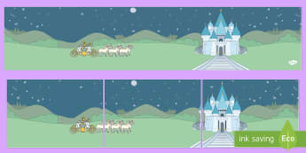 Small World Background (Cinderella) -  Cinderella, Small World, backdrop, background, scenery, small world area, small world display, small world, Traditional tales, tale, fairy tale, Pince Charming, Ugly Sisters, Step Godmother, Dress, Midnight, Car
