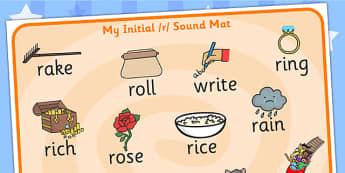 Initial r Sound Mat - initial r, r sound, sounds, sound mat, mat