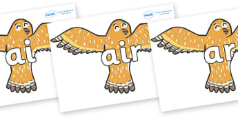 Phase 3 Phonemes on Owls - Phonemes, phoneme, Phase 3, Phase three, Foundation, Literacy, Letters and Sounds, DfES, display