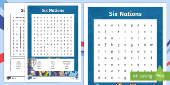 Six Nations Rugby Championship Word Search-Scottish - CfE, calendar events, Scotland, Scottish, traditions, history, celebrations, six nations, 6 nations,