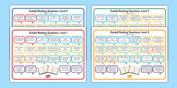 Levelled Guided Reading Questions Mats Chinese Mandarin Translation - chinese mandarin, books, question, level